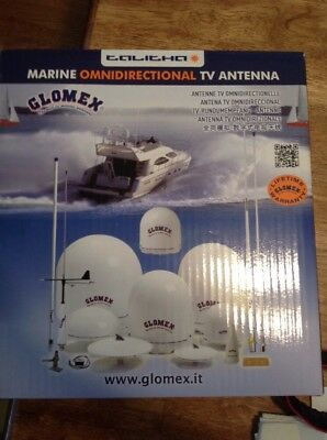 GLOMEX Talitha Compact & Lightweight TV Antenna V9125AGC with 20m Coaxial Cable
