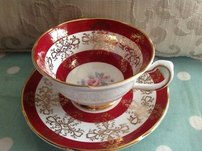 Royal Grafton Cup & Saucer Red