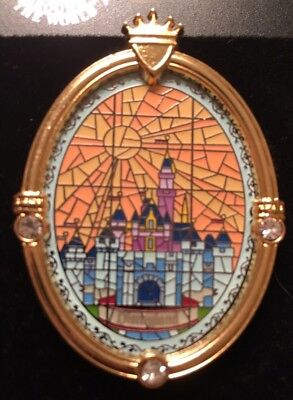 Disney Stained Glass Mosaic Sleeping Beauty/Aurora Castle Pin Pave Crystal