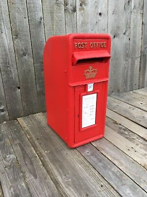 Royal Mail Cast Iron Scottish Crown Red Post Box