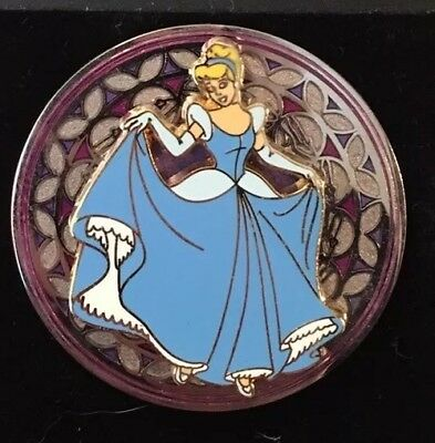 Disney Cinderella Stained Glass Look 3D Trading Pin