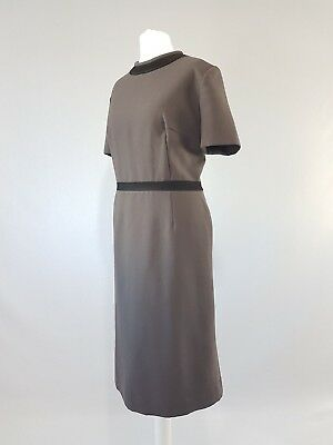 Vintage 50s Dress Fifties Original 40s Princess 60s Tailored Velvet Midi Uk14-16