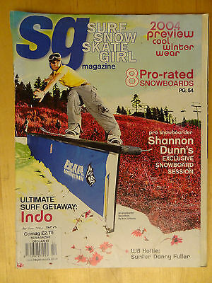 Sg Magazine Surf Snow Skate Girl Dec Jan 2003/4 Volime 7 Number 1 Board