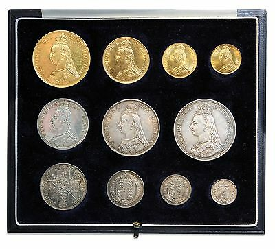 1887 Set Victoria, Gold  Five Pound To Threepence