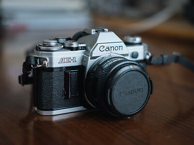 Canon AE-1 SLR camera with Canon 50mm FD f1.8 Lens