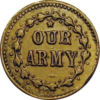 Our Army Our Navy R4 Patriotic Civil War Token