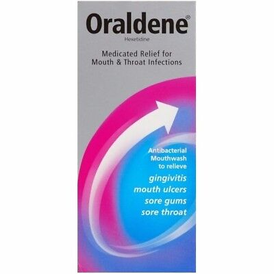 200ML Oraldene Type Medicated Mouthwash Fresh Mouth Ulcers Throat Infection