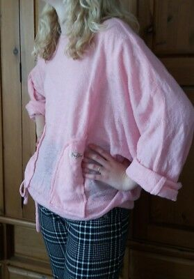 Vintage Bus Stop late 70s Candy Pink Oversize Drawstring Top