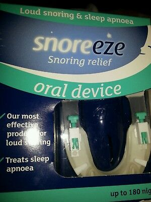 snoreeze. snoring relief oral device. up to 180 nights.