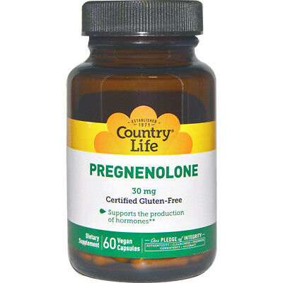 Country Life Pregnenolone Gluten Free Caps 30 mg - 60 Vegetarian Capsules
