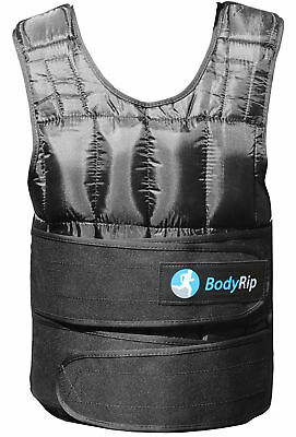 BodyRip Deluxe Weight Vest for Dips, Push-Ups, Chin-Ups 20 kg Removable Sandbags