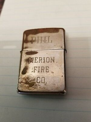 Merion Fire Company of Ardmore PA 1970 named Zippo Lighter