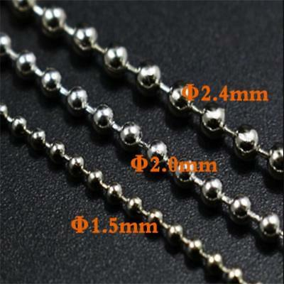 2.4mm Stainless Mini Beads Chain Eyes Hair Tied Hook Fly Fishing Tying Material