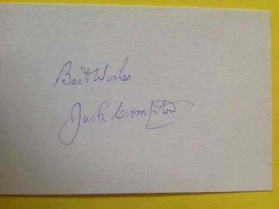 Jack Crompton Hand Signed Index Card - Manchester United BUSBY BABES #2 Deceased