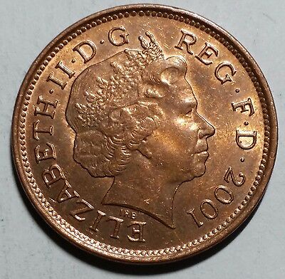 2001 Two Pence Great Britain/UK Coin