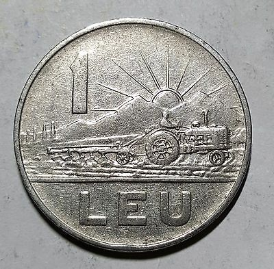 1963 1 Leu Romania Coin