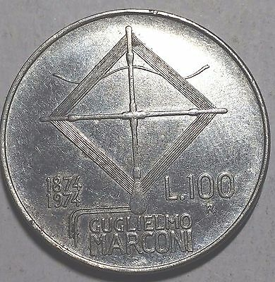 1974 100 Lire Italy Coin