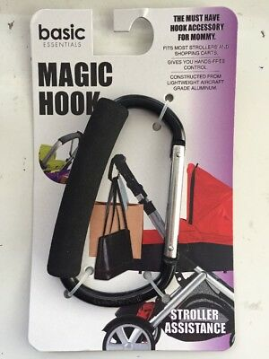 Magic Hook Stroller Accessory For Mommy Black New 5""
