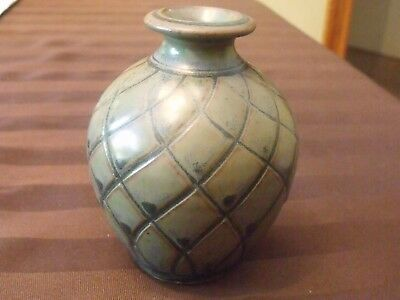 Nafziger signed Brush Creek Pottery  4.5 inch Vase. WOW
