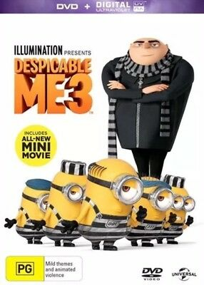 Despicable Me 3 Dvd New & Sealed- Free Postage!