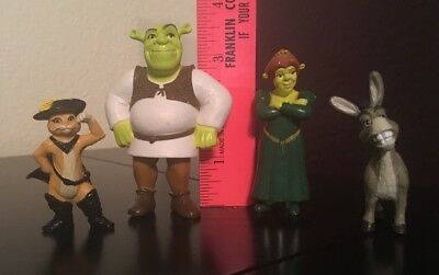 Shrek Four Piece / Character Figurine Set