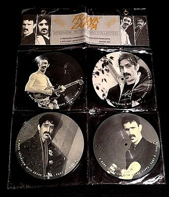 1984 Frank Zappa Four Picture Disc Set Famous Uk King Church Dictator Interview