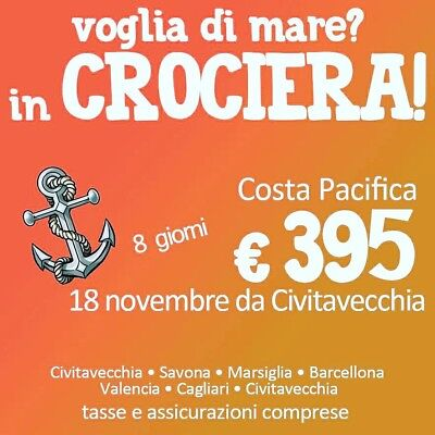 Crociera Costa Pacifica