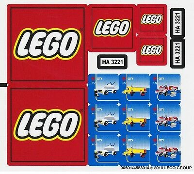 Replacement Sticker Label Sheet Lego 3221 City Truck