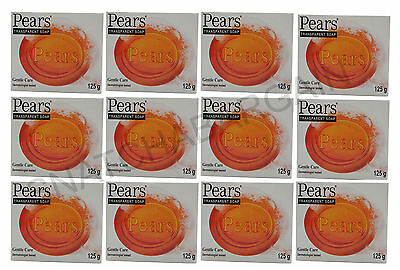 12 x PEARS TRANSPARENT GENTLE CARE SOAP DERMATOLOGIST TESTED 125g