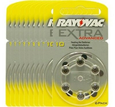 60 piles auditives Rayovac 10 Extra advanced / pile auditive PR70 / piles pour a