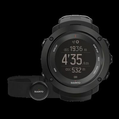 NEW Suunto Ambit3 Vertical Black HR Multisport GPS Heart Rate Watch SS021964000
