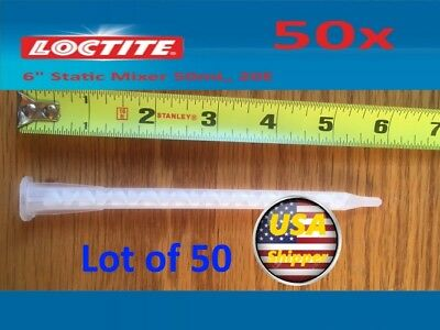 50x Loctite Static Mixer Nozzles, 50mL, Lot of 50