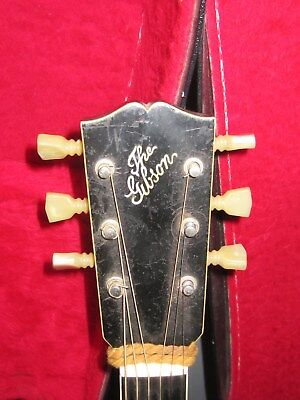 """1908 Gibson L4 16"""" Body Oval Hole Gibson Case-Needs Work"""