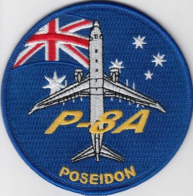 Australian P-8A Poseidon Flag Embroidered Patch 95mm