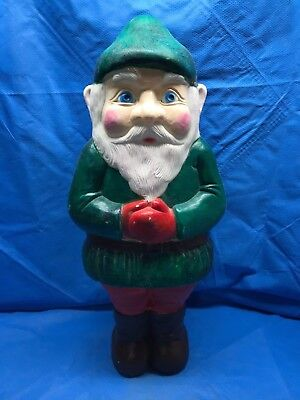 """1990 Green Elf  28"""" Holding Hands Don Featherstone Union Light Up Blow Mold"""