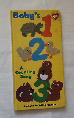 BABY'S 1 2 3 -  COUNTING SONG BOOK - HARDCOVER By Grosset & Dunlop