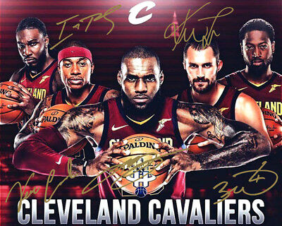 LeBron James Dwayne Wade Isaiah Thomas Love Cavs Signed Photo Autograph Reprint