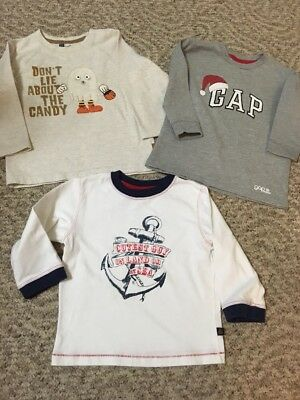 Baby Gap Boys Lot of 3 Long Sleeve Shirts - Size Toddler 3 Years Halloween Xmas