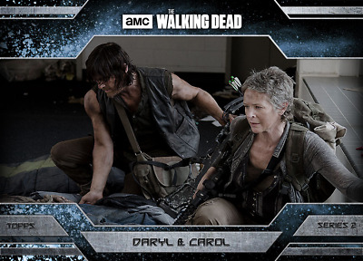 Topps Walking Dead Allegiance Series 2 Daryl Dixon and Carol Peletier ICE 500cc