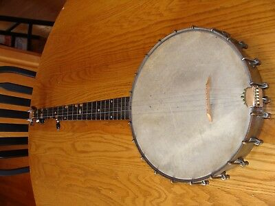 Antique Vintage 1890 - 1894  SS Stewart 5 String Open Back Banjo USA