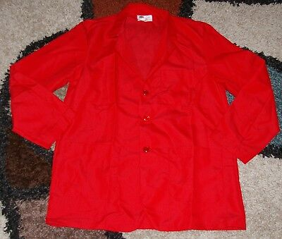 "Best Medical Woman L/S Staff Lab Coat 3 pockets Red 30"" Length Sz M / L (38)"