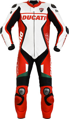 FNine Replica Men's Ducati Motorbike Leather suit with Protections