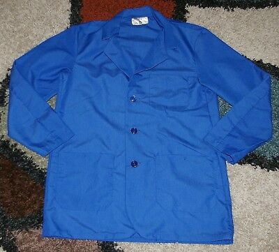 "Best Medical Woman L/S Staff Lab Coat 3 pocket Royal 30"" Length Sz Large (40)"