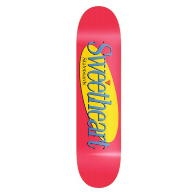 "Sweetheart Seinfeld Red 8.0"" Redline Skateboard Deck"