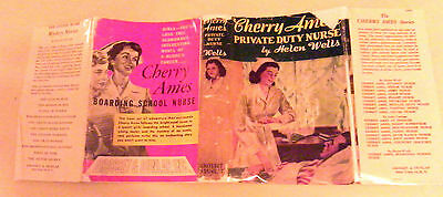 Cherry Ames 07: Private Duty Nurse–Yellow-Spine Dustjacket/brown Tweed Hardcover