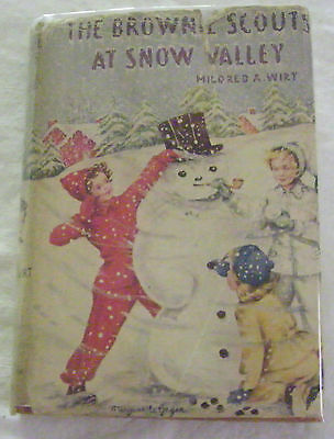 Brownie Scouts 01: At Snow Valley—Wrap-Spine Dustjacket/orange Cloth Hardcover