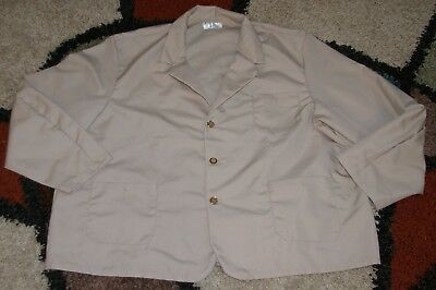 "Best Medical Woman L/S Staff Lab Coat 3 pocket Tan 30"" Length Size 4X/5X (58)"