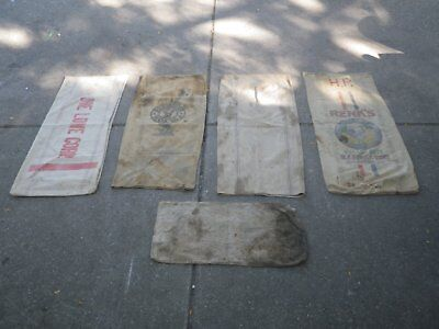 5 canvas feed bags lot #6