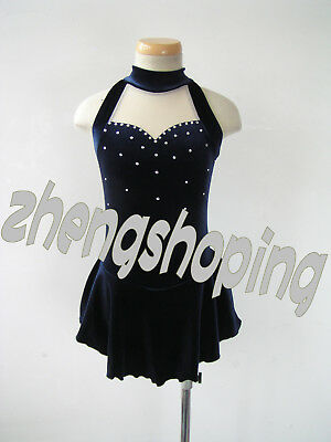 New Ice Skating Dress. Competition Figure Skating Twirling Leotard Dress 5454
