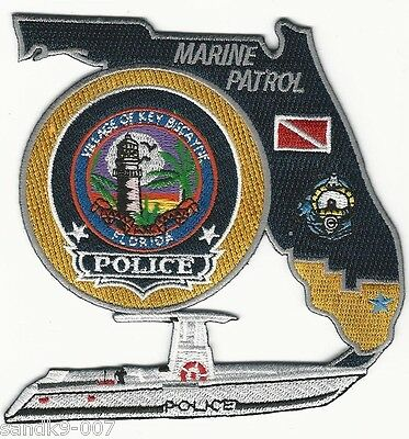 Marine Patrol Lighthouse Key Biscayne Police State of Florida FL Shoulder Patch